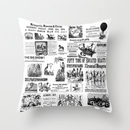 Victorian Circus Poster Throw Pillow
