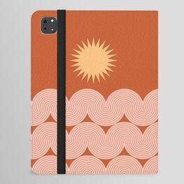 Mid Century Modern Geometric 48 in Sun and Sea Abstraction iPad Folio Case