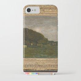 Charles-François Daubigny - Landschap met koeien bij maanlicht iPhone Case