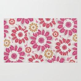 Feminine Flowers Pattern Rug
