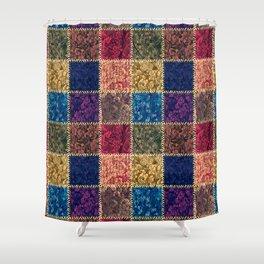 Flap-flops patchwork Shower Curtain