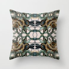 Snakes and Chains Throw Pillow
