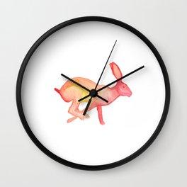 Les Animaux: Jack Rabbit Wall Clock
