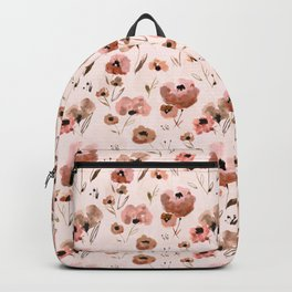Farmhouse floral - pink Backpack