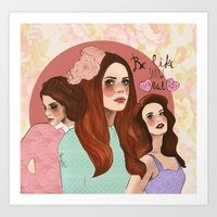 lana Art Prints featuring Lana by Clementine Petrova