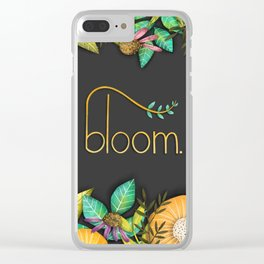 Bloom- Spring Illustration Clear iPhone Case
