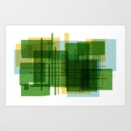 Abstract Geometric Dots Art Print