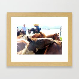 Are you my mama? Framed Art Print
