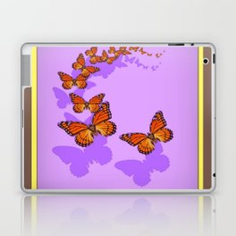 Monarch Butterflies Migration in Lilac Purple Graphic Art Laptop & iPad Skin