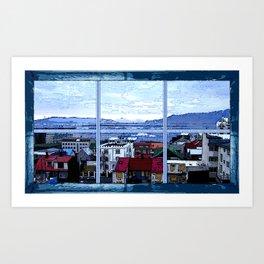 Reykjavik skyline view Art Print