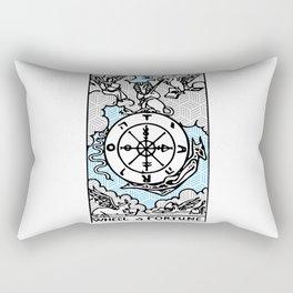 Geometric Tarot Print - Wheel of Fortune Rectangular Pillow