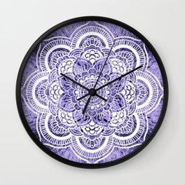 Mandala Lavender Colorburst Wall Clock