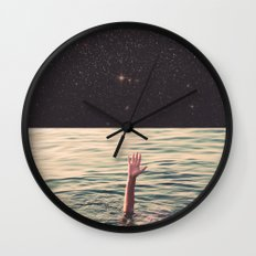Drowned in space Wall Clock