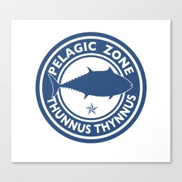 Graphic Bluefin Tuna Design Canvas Print