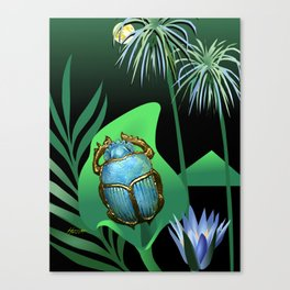 Night Of The Scarab Canvas Print
