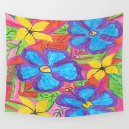Tropical Rainbow Garden Wall Tapestry