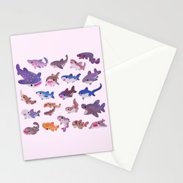 Shark day - pastel Stationery Cards