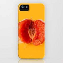 Half of red orange iPhone Case