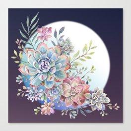 succulent fullmoon 7 Canvas Print