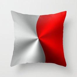 Metallic Red & Silver Geometric Design Throw Pillow