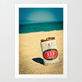 Beach and Beer Art Print