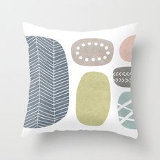 Painted Stones Throw Pillow