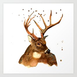 Beautiful Blitzen Art Print