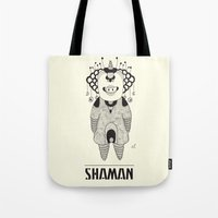 space jam Tote Bags featuring Shaman - Space Jam by Beara