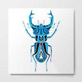 Stag Beetle _ Psychedelic bug 3.2 _ Besouro Independente Metal Print