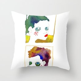 no name but a frame Throw Pillow