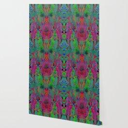 Garish Hidden Clown (Psychedelic, Op Art, Abstract) Wallpaper