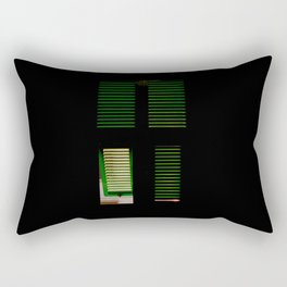 finestra verde Rectangular Pillow