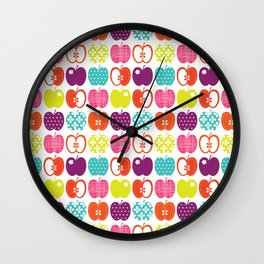 Textured Apples Wall Clock