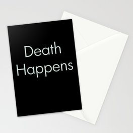 Death Happens Stationery Cards