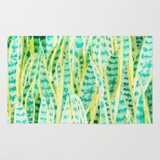 green snake plant pattern Rug