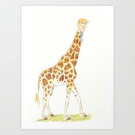 Trump Giraffe Art Print