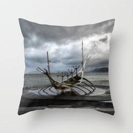 The Sun Voyager - Reykjavik Throw Pillow