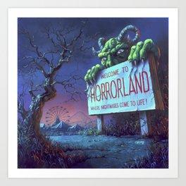 One Day at Horrorland Art Print