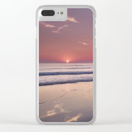 Barrosa Beach At Sunset. Cadiz Clear iPhone Case
