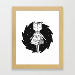Halloween Story - Voodoo Cat Doll Framed Art Print