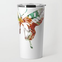 Colorful butterfly fabric art Travel Mug