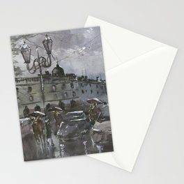Lviv in the evening Stationery Cards