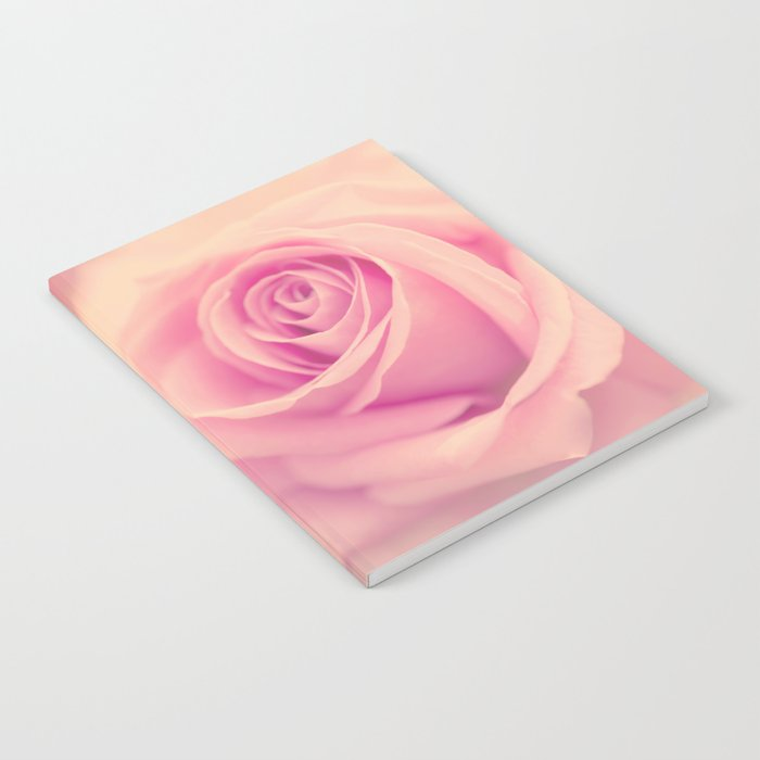 Vintage roses flowers floral - Pink rose flower bunch Notebook