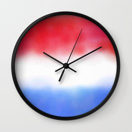 Flag of Netherlands 3 - with cloudy colors Wall Clock