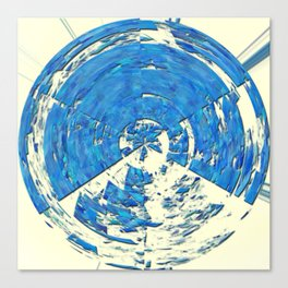 2015 Limited Addition Duvet Cover Extreme Abstract - Blue Rings Canvas Print