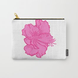 Cute Tropical Hibiscus Illustration Carry-All Pouch