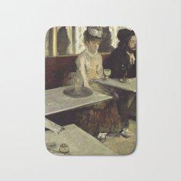 """Edgar Degas """"The Absinthe Drinker (Au Café, l'Absinthe)"""" Bath Mat"""