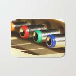 Colorful Electronic Adapters Bath Mat