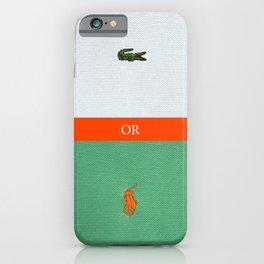 TENNIS or POLO iPhone Case