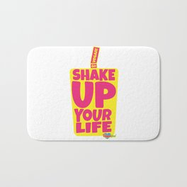 """Shake Up Your Life: Go Vegan"" from VegaFTW™ (Strawberry Banana) Bath Mat"